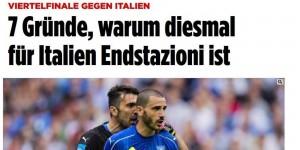 """Italia-Germania, la Bild: """"Siete spacciati. Ecco perché..."""""""