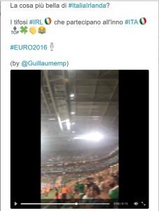 Euro 2016, tifosi irlandesi cantano e saltano sull'inno italiano