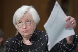 Guarda la versione ingrandita di Banche centrali in stand by da Europa a Usa. E le Borse... (nella foto Ansa, Janet Yellen, presidente della Fed)
