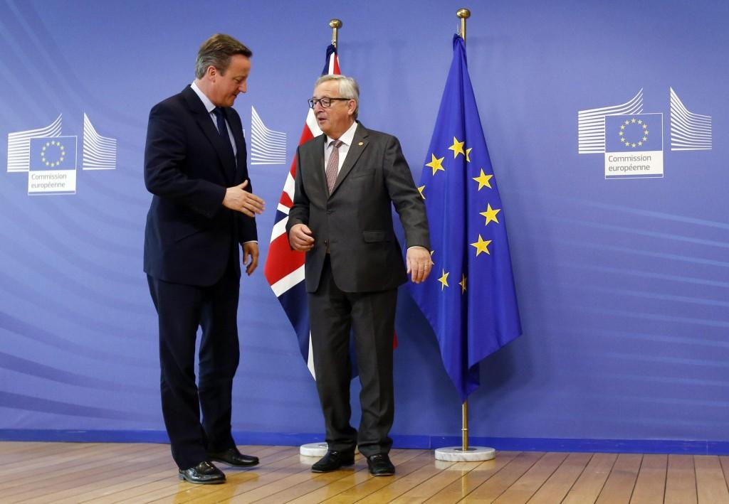 Juncker e Cameron