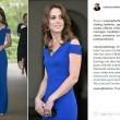 Kate Middleton in blu catalizza le attenzioni alla cena per il quarantesimo anniversario di SportsAid, associazione benefica che aiuta i giovani atleti a raggiungere il successo 2