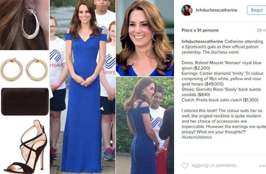 Kate Middleton in blu catalizza le attenzioni alla cena per il quarantesimo anniversario di SportsAid, associazione benefica che aiuta i giovani atleti a raggiungere il successo 5