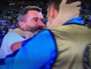 Roy Keane piange dopo Italia-Irlanda 0-1