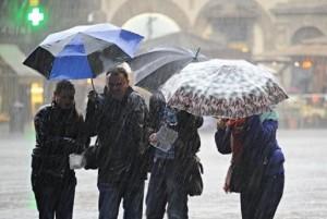 Meteo: maltempo e pioggia al Centronord anche domenica