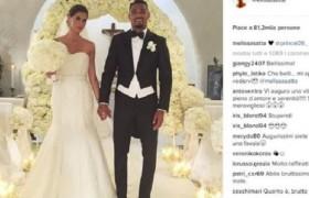 Melissa Satta-Boateng, matrimonio con incidente nella notte: invitati feriti