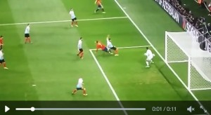Spagna-Turchia, VIDEO: Alvaro Morata palo clamoroso