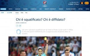 Ottavi Euro 2016, diffidati e squalificati: chi rischia e chi non gioca