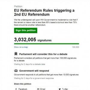 Brexit, petizione anti referendum: 77mila firme false