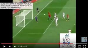 Pique VIDEO gol Spagna-Repubblica Ceca 1-0
