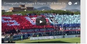 """Pisa-Foggia, super coreografia: """"il galeone pisano"""""""