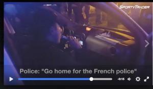 Polizia francese canta per convincere gli irlandesi a tornare a casa VIDEO
