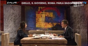 "Virginia Raggi contro Giannini a Ballarò: ""Sei un replicante..."""
