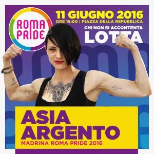 """Asia Argento madrina Roma Pride: """"Sono gay anche io"""""""