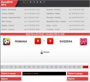 Guarda la versione ingrandita di Romania-Svizzera: diretta live Euro 2016 su Blitz con Sportal. Formazioni