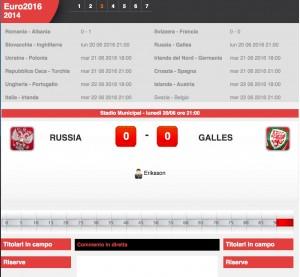Russia-Galles: diretta live Euro 2016 su Blitz. Formazioni