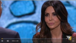 "Sabrina Ferilli a DiMartedì: ""Ho votato Virginia Raggi"" VIDEO"