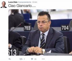 Gianluca Buonanno, tweet con gaffe di Luca Zaia FOTO