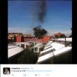 Milano, incendio sul tetto di una scuola a Lambrate FOTO 2 2