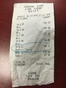 Guarda la versione ingrandita di Tassa su ironia: quando arriva lo scontrino deve pagare…FOTO