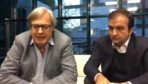"""Cosenza, Sgarbi: """"Occhiuto vera rivoluzione Politica"""" VIDEO"""