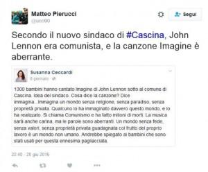 "Susanna Ceccardi, sindaca leghista: ""Imagine di Lennon è aberrante"""