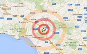 Guarda la versione ingrandita di Terremoto Caserta: scossa 3.5 epicentro tra Marzano Appio e Roccamonfina