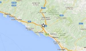 Guarda la versione ingrandita di Terremoto La Spezia magnitudo 4, epicentro tra Santo Stefano di Magra, Bolano e Vezzano Ligure