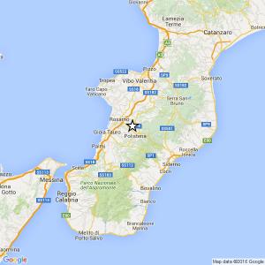 Guarda la versione ingrandita di Terremoto Reggio Calabria, scossa del 3.1 vicino Polistena