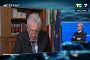 Guarda la versione ingrandita di Tremonti attacca Monti da Mentana, ex presidente Consiglio se ne va