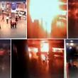 YOUTUBE Attentato Istanbul: kamikaze colpito si fa esplodere910