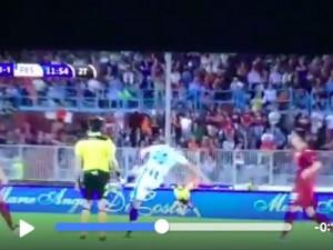 Valerio Verre video gol Trapani-Pescara: magia da centrocampo