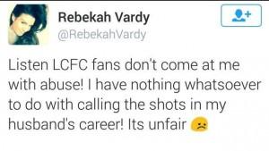 Vardy insultato tifosi Leicester: moglie sbotta su Twitter