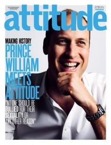 Principe William sulla copertina della rivista gay Attitude FOTO