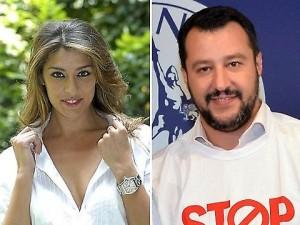 Guarda la versione ingrandita di Matteo Salvini e Elisa Isoardi