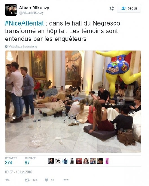 Nizza, feriti dentro el Negresco dopo la strage FOTO 03