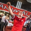 Capo ultras CSKA Sofia, matrimonio con fumogeni e cori da stadio3