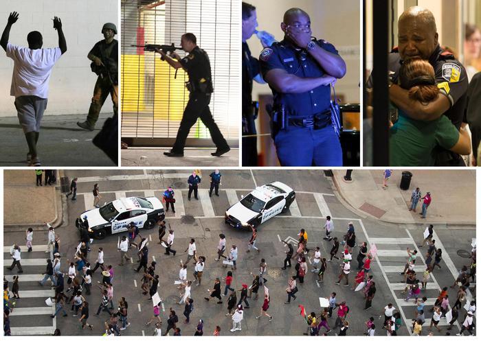 """Dallas: 5 agenti uccisi da neri, un cecchino """"suicida16"""