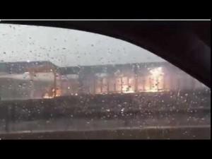 Fulmine fa esplodere parte della stazione di Chicago6