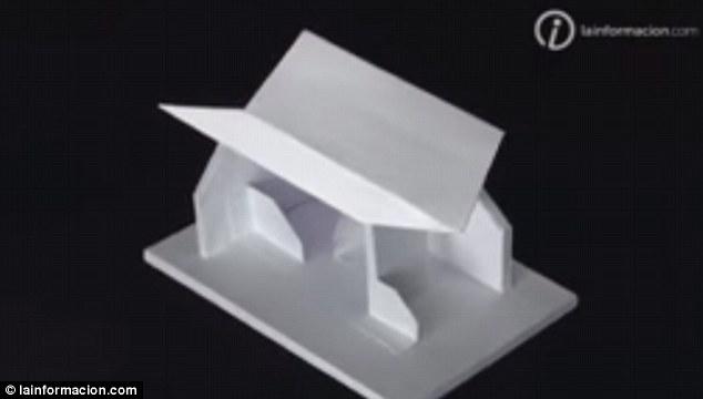 Illusione ottica: tetto rivolto verso basso