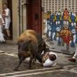 YOUTUBE Pamplona: prima corsa tori, 4 feriti 3