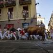 YOUTUBE Pamplona: prima corsa tori, 4 feriti 11