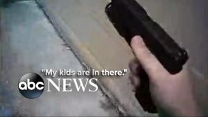 Poliziotto salva donna e i 3 figli dal marito che spara