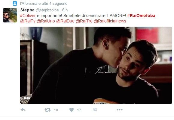 Rai Due censura scene gay dalla serie Delitto perfetto, proteste su Twitter5