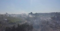 Roma, a fuoco sterpaglie sotto Ponte Marconi FOTO