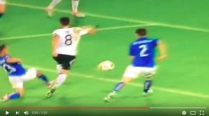 Mesut Ozil VIDEO gol Germania-Italia 1-0