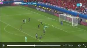Nani VIDEO gol Portogallo-Galles 2-0: subito dopo Ronaldo