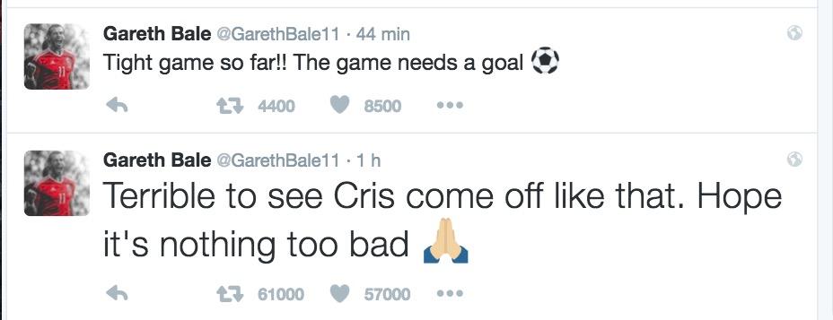"""Portogallo-Francia, Bale: """"Terribile vedere Cristiano Ronaldo uscire così"""""""
