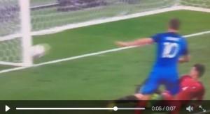 Gignac, VIDEO palo Portogallo-Francia finale Euro 2016