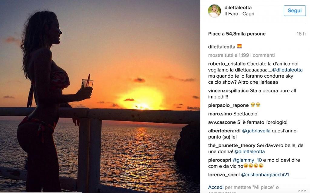 Diletta Leotta: foto in bikini al tramonto di Capri 2