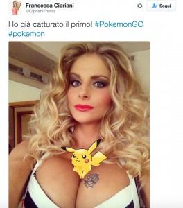 """Francesca Cipriani gioca a Pokemon Go: """"Guardate dov'è..."""" FOTO"""